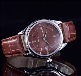 $enCountryForm.capitalKeyWord Canada - TOP Fashion stainless Steel Quartz Man Leather watch Japan Movement watch rose gold Wristwatches Life Waterproof Brand male clock Hot Items