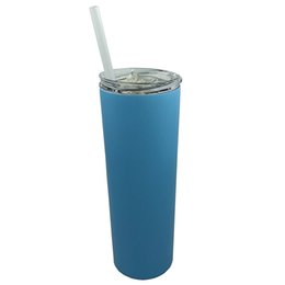 $enCountryForm.capitalKeyWord NZ - New Hot Selling Item Double Walled 304 Stainless Steel Vacuum Insulated 20 OZ Skinny Tumbler Mugs With Lid and Straw Straight Style