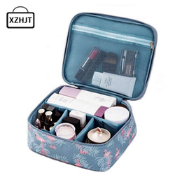 animal travel pillows NZ - Women Cartoon Flamingo Cosmetic Bag Function Makeup Bag Travel Trunk Zipper Make Up Organizer Storage Pouch Toiletry Kit Box