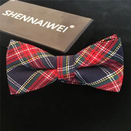 Plaid bowties online shopping - High Quality Fashion Casual Men Cotton Bow Tie Men s Bowties For Butterfly Cravat Plaid Checks Tuxedo Bow Necktie