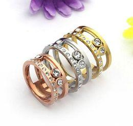 $enCountryForm.capitalKeyWord Australia - New Arrival Fashion Lady 316 Titanium Steel Slide Three Diamond MES Letter Wedding Engagement 18K Gold Plated Rings 3 Color Size6-9
