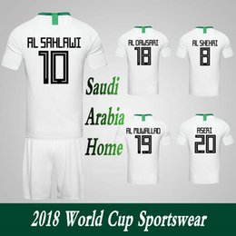 d162477c2ee Men Clothing Tracksuits Saudi Arabia National Team Home Football Sport  Suits 2018 World Cup Soccer Uniform Clothes Shorts.