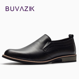 pointy black dress shoes men 2018 - BUVAZIK Luxury Brand Leather Concise Men Business Dress Pointy Black Shoes Breathable Formal Wedding Basic Shoes Men che