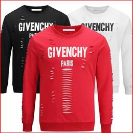 Wholesale 2018 New autumn simple sweater men s head round neck teen loose letters hollow sports men s shirt Sweatshirt Asian Size M Xl
