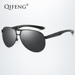 eac8943f930 QIFENG Pilot Polarized Sunglasses Men Fashion Brand Driver Aviation Sun  Glasses For UV400 Male Driving Fishing Oculos de QF005 polaroid fishing  sunglasses ...