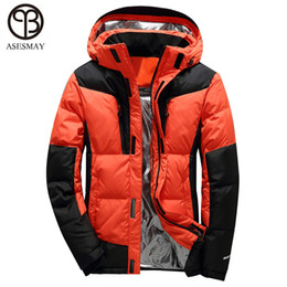 white russian hat 2021 - Asesmay 2018 Men Down Jacket High Quality Brand Clothing White Duck Down Warm Thick 4 Color Hoodies Winter Parka Russian Coats
