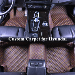 $enCountryForm.capitalKeyWord NZ - Wholesale Custom Car Floor Mats for hyundai 2011 sonata tucson elantra 2017 hunday santafe santa fe 2013 Auto Floor Mat Carpets Automatten