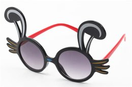 rabbit sunglasses 2020 - Fashion Children Cut Cartoon Rabbit Ears Sunglasses Eyeglasses Anti-UV Spectacles Adumbra Kids Sun Glasses Eyewear Shade