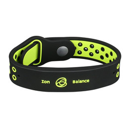 China Noproblem antifatigue power fitness sports silicone ions balance tourmaline germanium charms bracelet wristband bangles supplier ion silicone suppliers