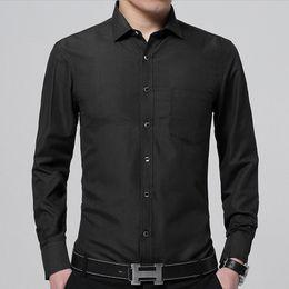 New 2018 Dress Shirt Men Long Sleeve Slim Fit Solid Business Office Shirt  Male Social Shirts Mens Shirts camisa masculina M-5XL 31045aae0