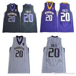 Men Basketball 20 Markelle Fultz College Washington Huskies Jerseys Man  Purple Black White Color Team University Markelle Fultz Jersey 07d2998cb