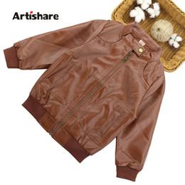 $enCountryForm.capitalKeyWord NZ - Boys Jackets & Outerwear Spring Autumn Boys Pu Leather Jacket Solid Jacket For Children Teen Clothing For 6 8 10 12 13 14