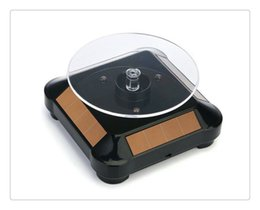 $enCountryForm.capitalKeyWord NZ - Hot High Gold Plated Silver Black Solar Power 360 Rotating Display Stand Turn Table Plate For Ring Necklace Bracelet Jewelry