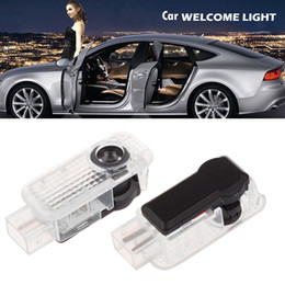 Discount shadow light audi logo - Wholesale 2pcs LED Vehicel Welcome Courtesy Laser Light Projector Logo Ghost Shadow Lamp for Audi Car Door CLT_06A