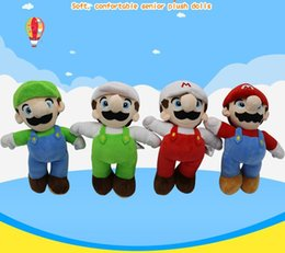 Discount best toys - 25cm Super Mario Bros Luigi Yoshi Soft Plush Toys Cosplay Animal Dolls Toys Luigi Plush Doll Stuffed Toy Best Gifts 4 de