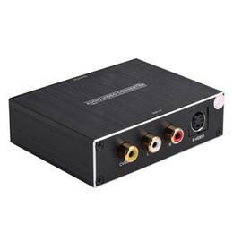 Бесплатная доставка 3 RCA AV S-VIDEO в HDMI конвертер Аудио Видео Конвертер сигнала 1080P HD Дисплей для ноутбука для PS4 DVD для XBOX360 на Распродаже