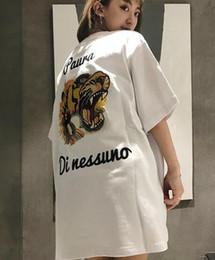 Women tiger design shirt online shopping - 2018 G G Fashion Design Brand Men s Casual Cotton Tiger embroidery short sleeve T Shirts Loose T shirt M XL WOMEN TIGER TOP