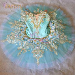 professional ballet tutu blue 2019 - Adult Professional Tutu Light Blue Women Performance Classical Ballet Tutu Dress Professional Ballet Costume Pancake Tut