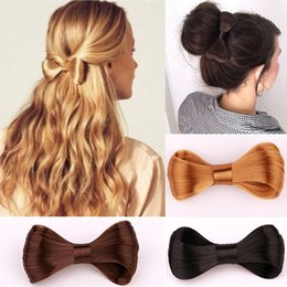 Hair Lovely Australia - Fashion 5 Colors Women Big Bow Hairpin Girls Lovely Wig Popular Hair Clips Hair Accessories