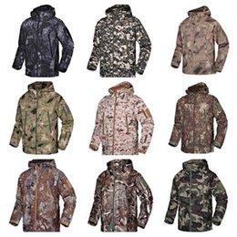 Softshell Camouflage Jacket Australia - Men Waterproof Breathable Softshell Jacket Outdoor Camouflage Suit Coats Shark Skin Hiking Windproof Winter Outwear Soft Shell jacket A02