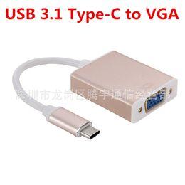 c90004a777b Супер скорость USB-C USB 3.1 Type-c к VGA кабель мужчин и женщин адаптер  для Macbook Air 12 монитор проектор конвертер