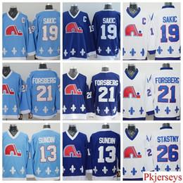 quebec nordiques throwback jerseys 13 mats sundin 26 peter stastny 19 joe  sakic 21 peter forsberg 427adb763