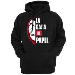 Großhandel La Casa De Papel Männer Unisex Hoodies Sweatshirts Oberbekleidung Hoody neue Tv Show Serie Casual BELLA CIAO PROF NAIROBI DENVER TOKYO