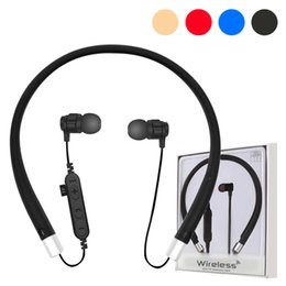 $enCountryForm.capitalKeyWord NZ - For Iphone 8 X VT11 Bluetooth Headset Headphone Wireless Magnetic Earphone Neckband Sport Stereo Earphone Support TF Card With Mic Package