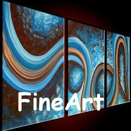 Good Paintings Australia - 100% good quality discount hand-painted wall art modern canvas blue wall art decor 3pc set unique gifts Kungfu Art no frame