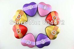 Wholesale Heart Candy Boxes Australia - 100pcs lot heart shape wedding metal tin favor box, Candy Box, Mint Tin