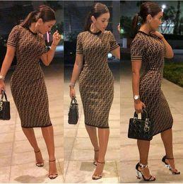 ElEgant kimonos online shopping - Elegant Bodycon Dress Summer Dresses Women Round Neck Short Sleeve printing Pencil Dress Party Dress Fashion Office Lady Dresses