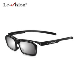 Tv Frame Plastic NZ - Le-Vision 3D Passive Glasses Circular Polarized Black Red Frame for Cinema Movie Home Theater LG Sumsung TV 3D Plastic Glasses