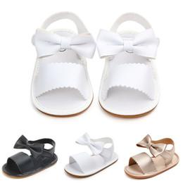 $enCountryForm.capitalKeyWord NZ - Newborn Baby Sandals Girl Shoes Fashion PU Bow Baby Girl Sandals Cute Shoes for Girls