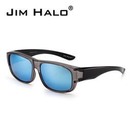 Jim Halo Polarized Fit Over Sunglasses Mirrored Oversize Eyewear Wear Over  Glasses Men Women Outdoor Goggles d448a97a3a