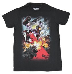 Authentic MARVEL COMICS Deadpool Crossed Slim Fit T-Shirt S M L XL 2XL NEW