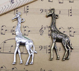 Wholesale bag Jewelry Findings Retro Cute Big Giraffe Animals Alloy Charms Pendant Jewelry Making DIY Accessories x22mm
