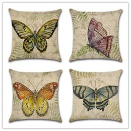 $enCountryForm.capitalKeyWord NZ - New Pillow Cover Hot Cotton Dream Butterfly Hold Sofa Pillowcase Cushion Cover Home Decoration