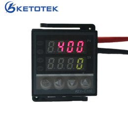 Thermostat Controller Canada - Dual Display Temperature Controller Relay Output 100-240V PID Control Thermostat Universal Digital Programmable REX-C100