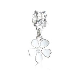 $enCountryForm.capitalKeyWord Australia - 3 Color Painted Flower Dangle Unique Charm Bead Big Hole Fashion Women Jewelry European Style For DIY Bracelet Necklace