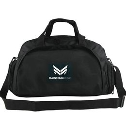 tote bags compartments UK - Mainstage duffel bag The one records label tote DJ Yalem music backpack 2 way use luggage Trip shoulder duffle Sport sling pack
