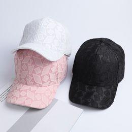 a497227848614 Women s Baseball Caps Lace Sun Hats Breathable Mesh Hat Gorras Summer Cap  For Women Snapback Casquette