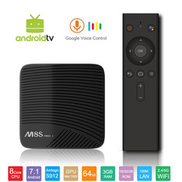 Android tv box wifi remote online shopping - Original M8S Pro L Android TV Box with Google Voice Bluetooth Remote Control Amlogic S912 Octa Core G G Smart K Mini PC G G Wifi