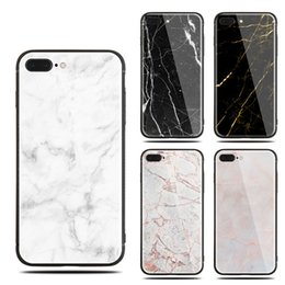 Wholesale For apple iphone X plus plus Painted PC cell phone cases Colorful Glossy Tempered Glass marble Hard Case Anti scratch protector