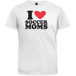 5718a7f5f21 I Love Soccer Moms Adult Mens T-Shirt Funny free shipping Unisex Casual tee  gift