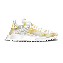 Chinese  NMD Human Race Hu Trail Pharrell Williams Happy 2018 New Mens Designer Sports Running Shoes for Men Sneakers Women Casual Trainers With Box manufacturers