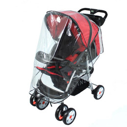 China Baby Stroller Accessories Waterproof Cover Raincoat for Stroller Pushchairs Baby Carriage Dust Rain Cover supplier stroller rain covers suppliers