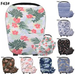 Scarf ShopS online shopping - Fashion Shopping Cart Grocery Trolley Cover Multi Purpose Baby Floral Feeding Nursing Covers Soft Breastfeeding Privacy Scarf New jy BB
