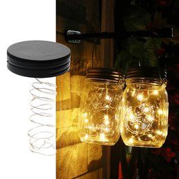 Discount Garden Led Strip Lights   ITimo Mason Jar Insert LED Light String  Battery Operated DIY