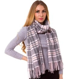 Discount thick warm blankets - Cashmere Silk Check Plaid Scarf Shawl Wrap Oblong Warm Fashion Long Thick Hijab Top Quality Tartan Blanket Autumn Winter