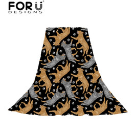 $enCountryForm.capitalKeyWord NZ - FORUDESIGNS Scarves Women Funny Australian Cattle Dog Florals Cream Print Hijab Beach Towel Ladies Slik Scarf for Female Teens